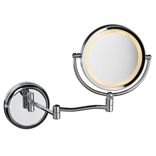 Dainolite Lighting  LEDMIR-1W-PC Swing Arm LED Lighted Magnifier Mirror, Polished Chrome