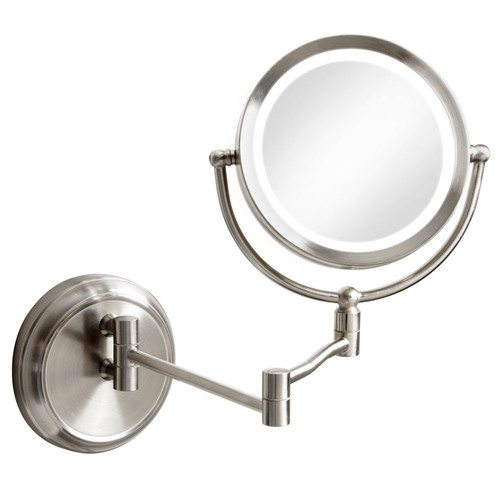 Dainolite Lighting  LEDMIR-1W-SC Swing Arm LED Lighted Magnifier Mirror, Satin Chrome