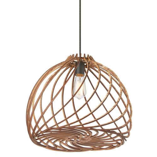Dainolite Lighting  LIL-171P-WD 1 Light Incandescent Pendant, Wood Finish