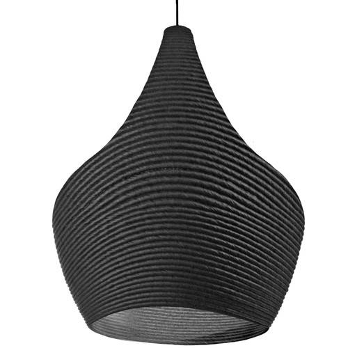 Dainolite Lighting  MAS-191P-BK 1 Light Pendant, Black Finish