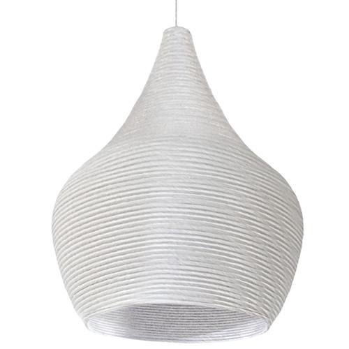 Dainolite Lighting  MAS-191P-WH 1 Light Pendant, White Finish