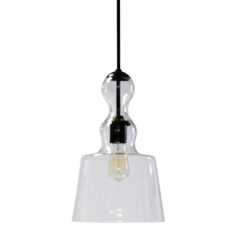 Dainolite Lighting  MDN-91P-BK 1 Light Incandescent Pendant, Black Finish