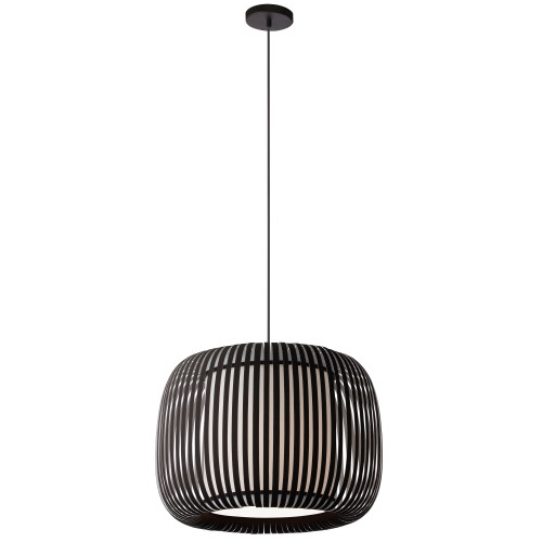 Dainolite Lighting  MIA-181P-797 1 Light Pendant Slit Shade JTone Black Black