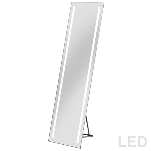 "Dainolite Lighting  MLED-1761-WDB Lighted Wardrobe Mirror, 17"" x  61"" with Floor Stand"