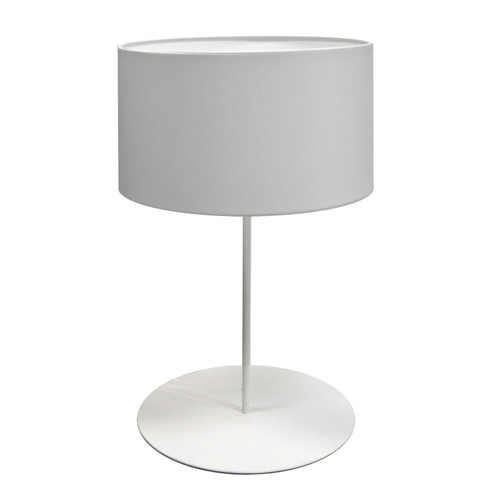 Dainolite Lighting  MM141T-WH-790 1 Light Drum Table Lamp with JTone White Shade