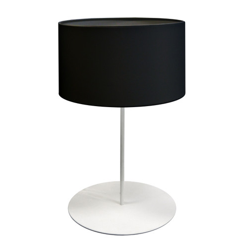 Dainolite Lighting  MM141T-WH-797 1 Light Drum Table Lamp with JTone Black Shade