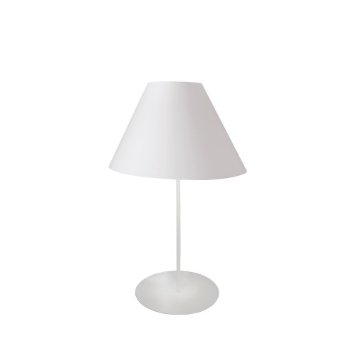 Dainolite Lighting  MM142T-WH-790 1 Light Tapered Table Lamp with White Shade