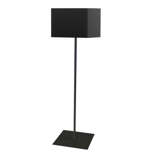 Dainolite Lighting  MM181F-BK-797 1LT Slope Floor Lamp, Black Shade, Black