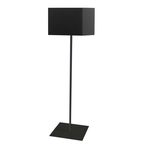 Dainolite Lighting  MM181F-BK-797 1LT Slope Floor Lamp, Black Shade, Black