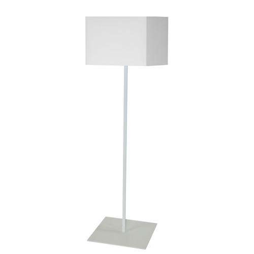 Dainolite Lighting  MM181F-WH-790 1LT Slope Floor Lamp, White Shade, Black