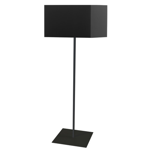 Dainolite Lighting  MM201F-BK-797 1 Light Square Floor Lamp w/ Black Shade