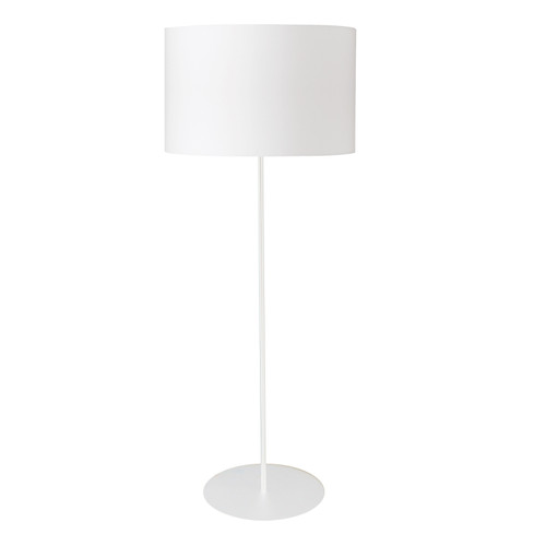 Dainolite Lighting  MM221F-WH-790 1LT Drum Floor Lamp w/ White Shade