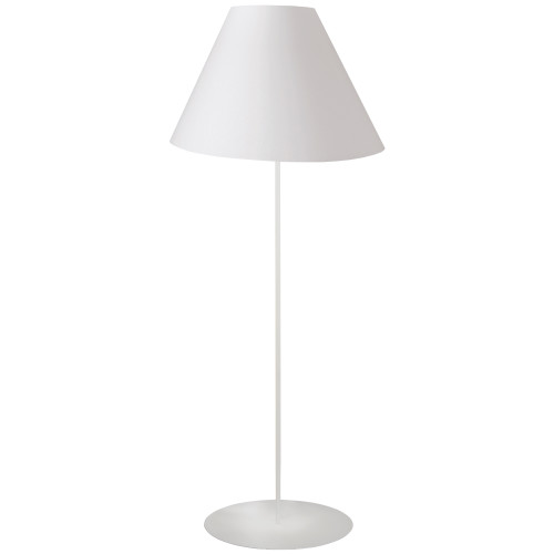 Dainolite Lighting  MM231F-WH-790 1LT Tapered Floor Lamp w/ White Shade