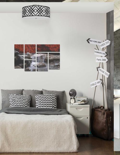 Dainolite Lighting  MON-153FH-PC-BW 3 Light Flush Mount, Polished Chrome Finish, Black/White Shade
