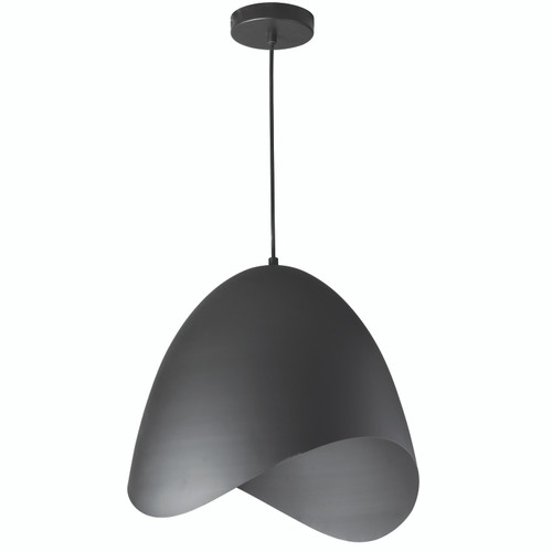 Dainolite Lighting  MYR-241P-BK 1 Light Pendant, Black Finish