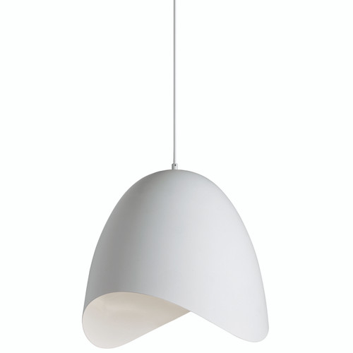Dainolite Lighting  MYR-241P-WH 1 Light Pendant, White Finish