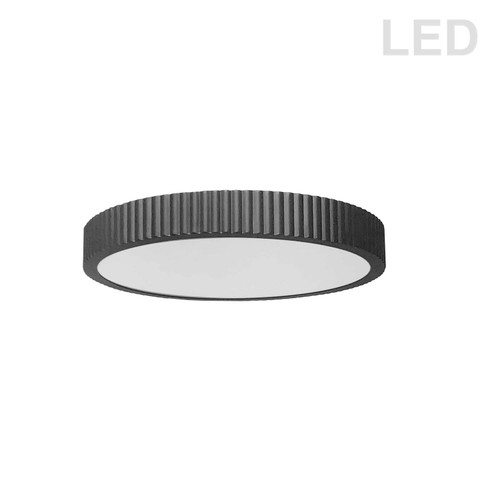 Dainolite Lighting  NBO-1830LEDFH-MB 30W LED Flush mount, Matte Black with White Acrylic Diffuser
