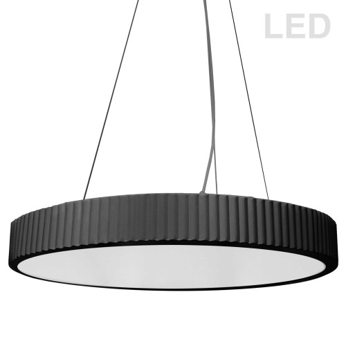 Dainolite Lighting  NBO-2240LEDP-MB 42W LED Pendant, Matte Black with White Acrylic Diffuser