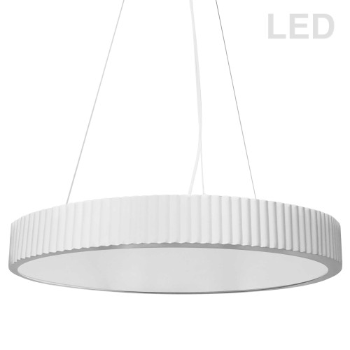 Dainolite Lighting  NBO-2240LEDP-MW 42W LED Pendant, Matte White with White Acrylic Diffuser