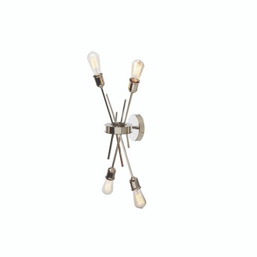 Dainolite Lighting  NEB-194W-BC 4 Light Wall Sconce, Burnished Chrome Finish