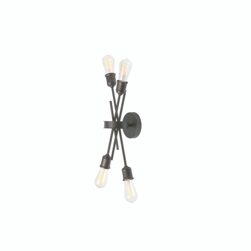 Dainolite Lighting  NEB-194W-ES 4 Light Wall Sconce, Espresso Finish