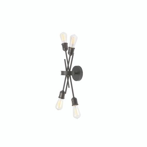 Dainolite Lighting  NEB-194W-ES 4 Light Wall Sconce, Espresso Finish