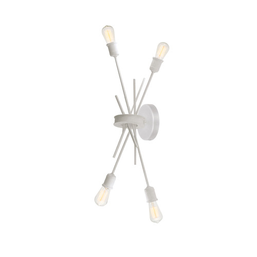 Dainolite Lighting  NEB-194W-WH 4 Light Incandescent Wall Sconce Matte White Finish