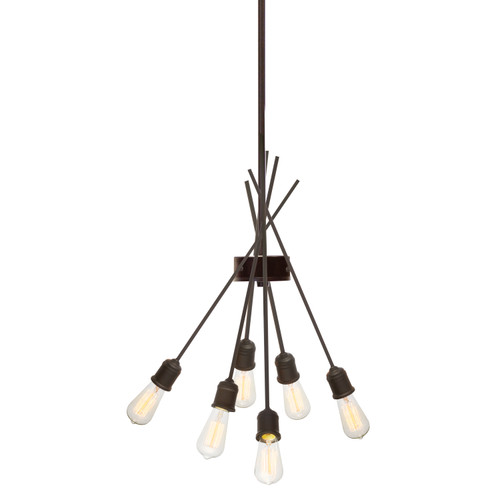Dainolite Lighting  NEB-246P-ES 6 Light Pendant, Espresso Finish
