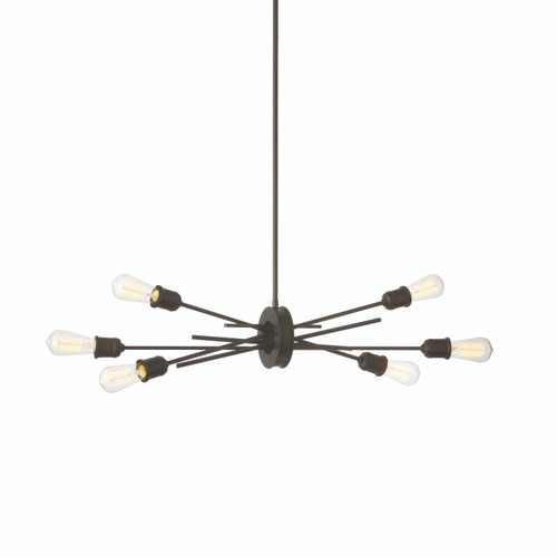 Dainolite Lighting  NEB-326HP-ES 6 Light Horizontal Pendant, Espresso Finish