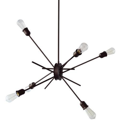 """Dainolite Lighting  NEB-336P-ES 6 Light Pendant, Espresso Finish, 28"""" Diameter"""