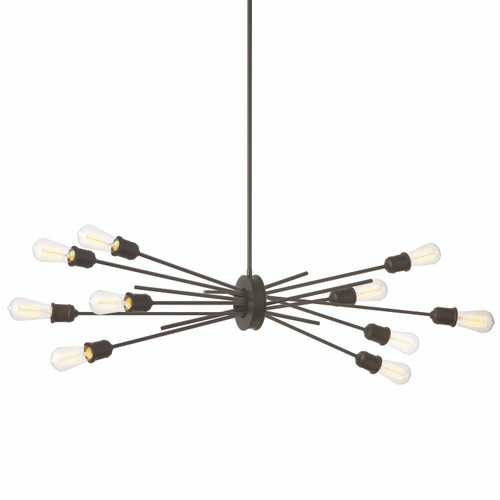 Dainolite Lighting  NEB-3910HP-ES 10 Light Horizontal Pendant, Espresso Finish