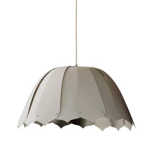 Dainolite Lighting  NOA121-S-2423 1 Light Noa Pendant Camelot Grey Small Polished Chrome