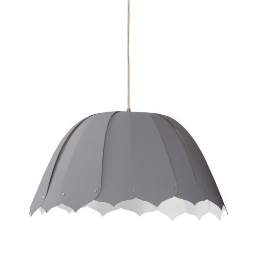 Dainolite Lighting  NOA121-S-835 1 Light Noa Pendant Silk Glow Grey Small Polished Crome