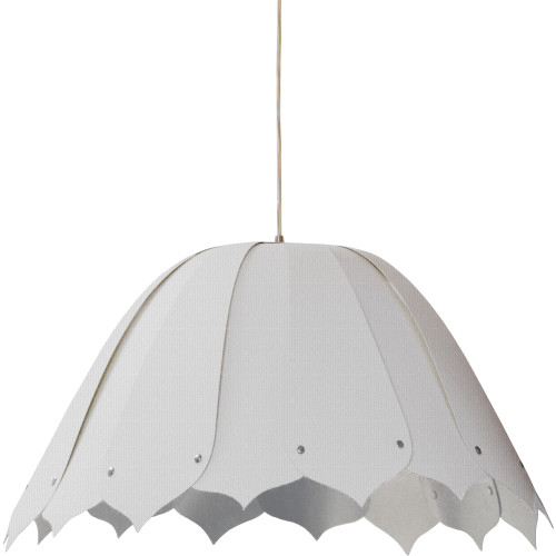 Dainolite Lighting  NOA151-M-2400 1LT Noa Pendant Camelot Wht,Medium Polished Chrome