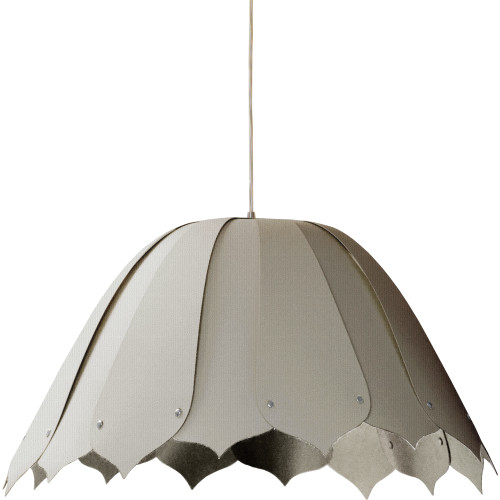 Dainolite Lighting  NOA151-M-2423 1LT Noa Pendant Camelot Gry,Medium Polished Chrome