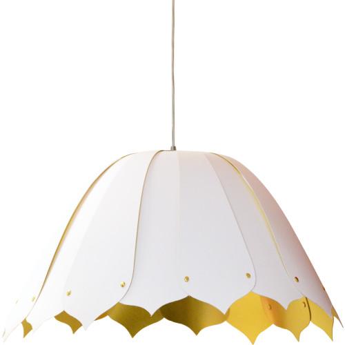 Dainolite Lighting  NOA151-M-692 1LT Noa Pendant JTone Wh/Gld  Medium White