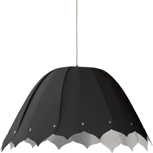 Dainolite Lighting  NOA151-M-697 1 Light Noa Pendant JTone Black on Silver Medium Polished Chrom