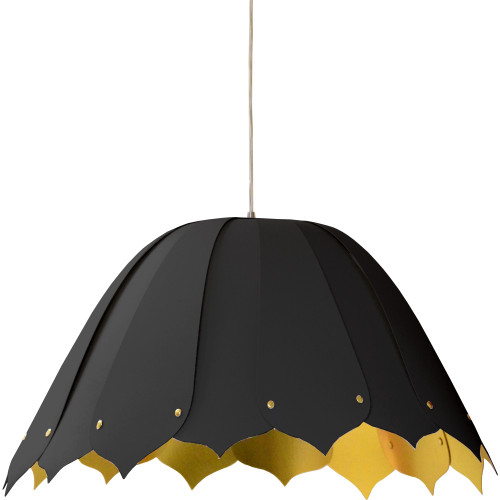 Dainolite Lighting  NOA151-M-698 1 Light Noa Pendant JTone Black on Gold, Medium Black