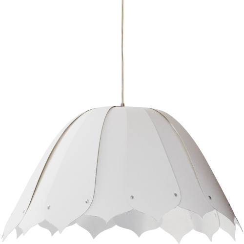 Dainolite Lighting  NOA151-M-790 1 Light Noa Pendant JTone White, Medium, Polished Chrome