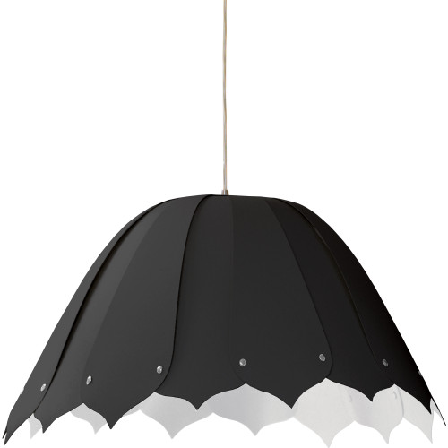 Dainolite Lighting  NOA151-M-797 1 Light Noa Pendant JTone Black, Medium Polished Chrome