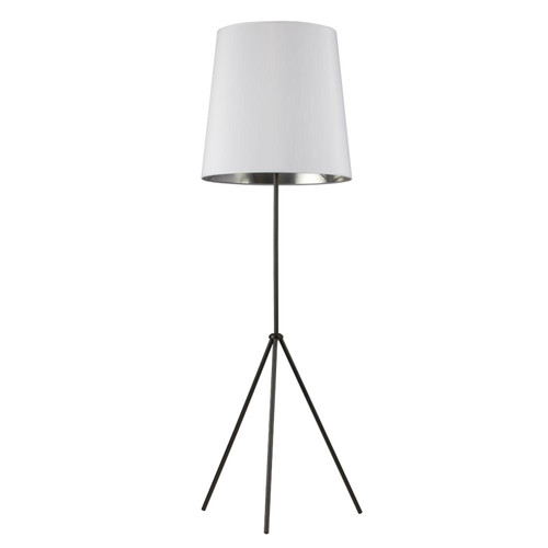Dainolite Lighting  OD3-F-691-MB 3 Leg Tapered Drum Floor Lamp, Matte Black