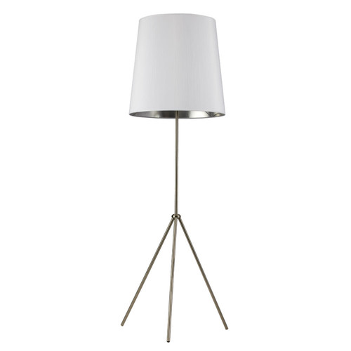 Dainolite Lighting  OD3-F-691-SC 3 Leg Tapered Drum Floor Lamp, Satin Chrome