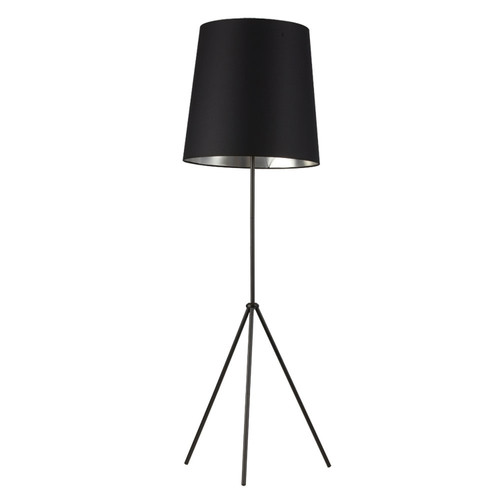 Dainolite Lighting  OD3-F-697-MB 3 Leg Tapered Drum Floor Lamp, Matte Black