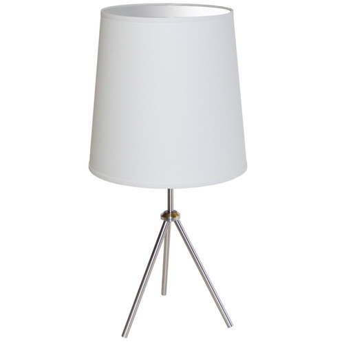 Dainolite Lighting  OD3T-L-790-SC 1 Light 3 Leg Drum Table Fixture w/White Shade