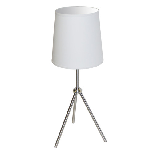 Dainolite Lighting  OD3T-S-790-SC 1 Light 3 Leg Drum Table Fixture w/White Shade