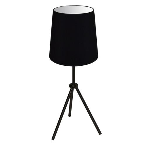 Dainolite Lighting  OD3T-S-797-MB 1 Light 3 Leg Drum Table Fixture w/Black Shade