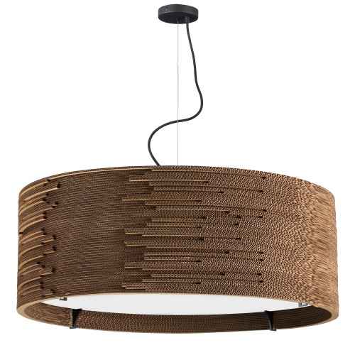 Dainolite Lighting  ODI-243P-CDB 3 Light Incandescent Pendant Cardboard Finish with frosted Diffuser