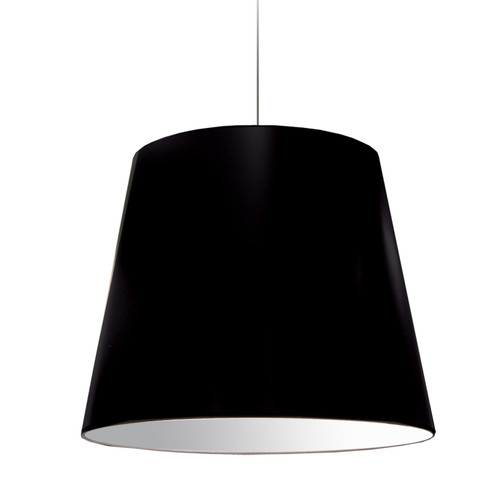 Dainolite Lighting  OD-L-797 1 Light Oversized Drum Pendant Large Black Shade