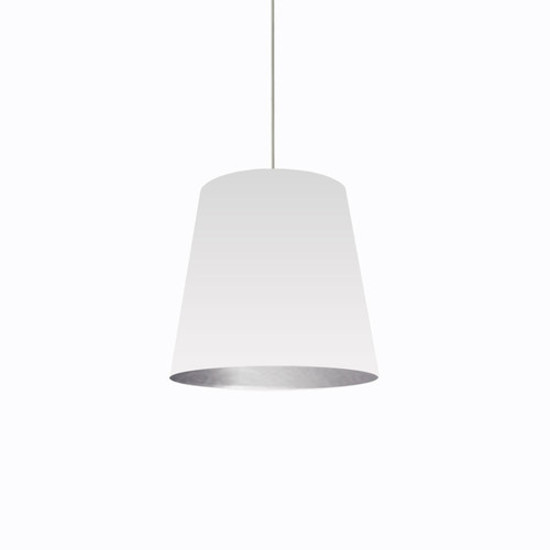 Dainolite Lighting  OD-M-691 1 Light Tapered Drum Pendant with White on Silver Shade