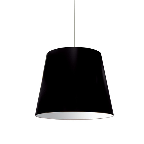 Dainolite Lighting  OD-M-797 1 Light Oversized Drum Pendant Medium Black Shade
